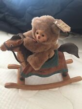 Limited Edition Robert Raikes Dolly Mohair Bear & Rocking Horse - Signed in Box