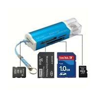 Portable USB 2.0 All in 1 Memory Card Reader Support For Micro SD TF SDHC M2 MMC