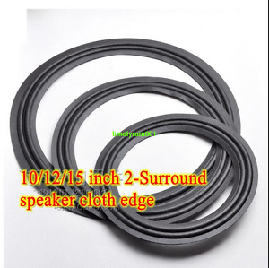 1pcs 10/12/15 inch 2-lines Speaker cloth edge surround Speaker repair part