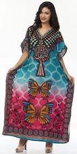 Butterfly Long Kaftan, Boho Hippy Maxi Beautiful Caftan Dress, Free Size