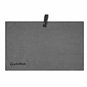 """TaylorMade Microfiber Cart Towel Grey 15"""" x 24"""" New"""