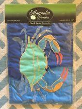 New Magnolia Lane Garden Flag Emboidered Blue Crab