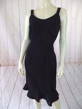 Albert Nipon Petite Dress 8P Black Poly Triacetate Sleeveless Sheath Beaded LBD