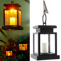 2~4Pcs Solar Lantern Light Powered Hanging Outdoor Garden LED Candle Table