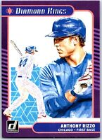 2021 Donruss Base Diamond Kings #21 Anthony Rizzo - Chicago Cubs