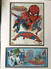 2-Spider-Man USPS FDOI Stamp Poster Art 7.26.07 SDCC Marvel Comics Sealed 16X12