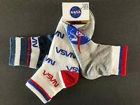 3 Paar NASA Logo Socken Damen Herren Kinder Strümpfe Bunt Weltraum 37-42 Primark