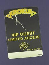 Krokus Original Backstage Pass - Blitz Tour 1984/5 - Unused Stock !