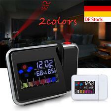 1pc LED Projektionsuhr Zeit LCD Display Thermometer Ob Alarmkalender Haushalt
