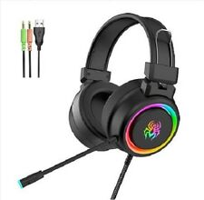 Gaming Casque Super Bass Arc-en-Ciel Spide Light Peau Amicale