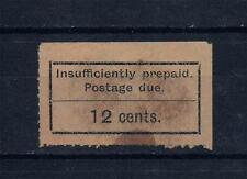 Zanzibar 1931 Postage Due SC#J4(a or b?) 12c  MH or Used  ROULETTED 10 high CV