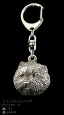 West Highland White Terrier , silver covered keyring, high qauality keychain