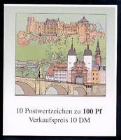 Bund, Markenheftchen MH 33 postfrisch - 800 Jahre Heidelberg [18191