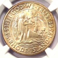 1936 Rhode Island Half Dollar 50C - NGC MS67 - Rare in MS67 - $990 Value!
