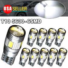 10 X White 5630 T10 6SMD LED CANBUS ERROR FREE Interior License Dome Light Bulb