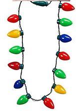 LED Light Up Christmas Bulb Necklace Party Favors Disney Decorations Ornaments