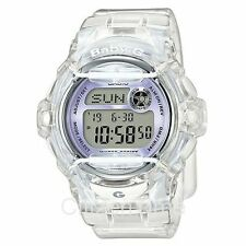 -NEW- Casio Baby-G Clear / Purple Accents Watch BG169R-7E