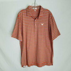 Peter Millar Mens UT Texas Longhorns Short Sleeve Polo Shirt Size Large SD224