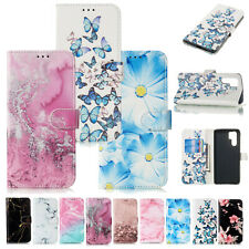 For Samsung Galaxy Note 20 Ultra S20 S9 S8 Pattern Phone Case Wallet Cover Stand