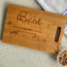 Mothers Day Engraved Personalised Chopping Board Cheese Board Mum Nanna Grandma