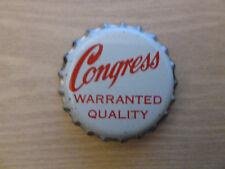 One vintage unused Congress Warranted Quality cork-lined beer bottle cap.