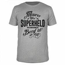 Maurer Superheld Handwerker Heimwerker Zement Spachtel Mauer Profi Beruf Shirt