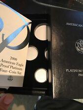 2000-W 4 Coin Proof Platinum American Eagle Box OGP & COA No Coins