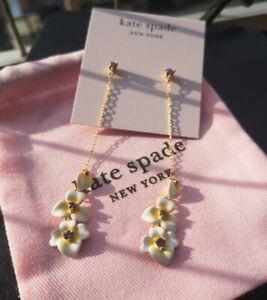 Kate Spade New York precious pansy linear drop earrings