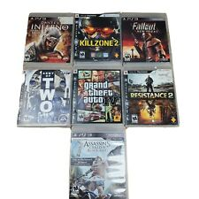 Ps3 7 Game Bundle... Dantes Inferno, Killzone, Fallout, Army of Two, GTA4 MORE