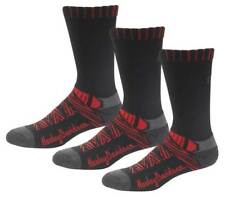 Harley-Davidson Women's Aztec Coolmax Riding Socks, 3 Pairs - Black/Red