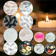 Decorative Glass Mirrored Tea Light Candle Holder Round Plate Drinks Coaster Set