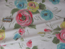 Cath Kidston Painterly rose white FQ 50cm SQUARE lightweight cotton fabric new