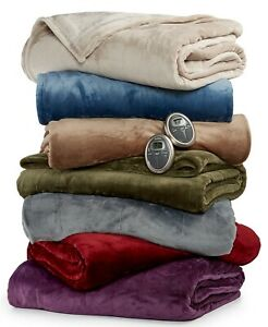 SUNBEAM  Slumber Rest Plush Heated King  Blanket