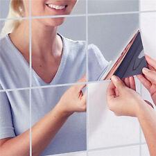 9x Spiegelaufkleber Quadrate Selbstklebend Wand Aufkleber Spiegel Haus-Deko