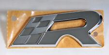 """Original seat Cupra """"R"""" - letras cheers gris/cromo ADHESIVO DECAL emblema logotipo"""