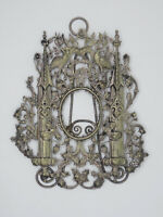 ANTIQUE ART NOUVEAU FABULOUS ORNATE ACANTHUS FLORAL w/ CRANES BORDER FRAME
