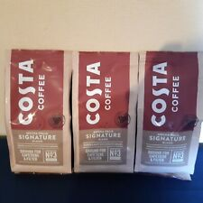 Costa Coffee Mocha Italia Signature Blend Ground Cafetière & Filter 3 x 200g NEW