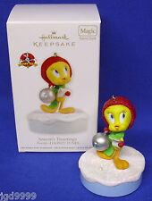 Hallmark Ornament Looney Tunes Season's Tweetings 2012 Tweety Bird Sings Sound