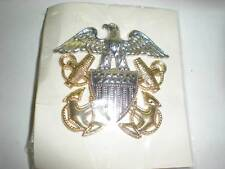 US NAVY OFFICER'S SERVICE CAP BADGE -TWO PIECE