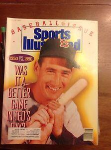 April 16 1990 Ted Williams Boston Red Sox Baseball Sports Illustrated Magazine