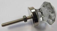 Armario De Cristal Tallado Cristal y tira pequeño puntiagudo (las perillas de puerta) con base de cromo