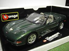 CHEVROLET CORVETTE Cabriolet 1998 au 1/18 d BURAGO voiture miniature collection