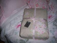 NWT Rachel Ashwell KING Duvet Bella Rose Beige Shabby Chic Couture 100% Cotton