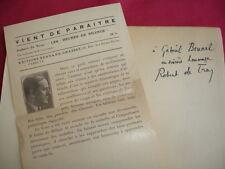 LES HEURES DE SILENCE Robert de Traz Service de Presse avec envoi !