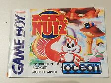 Mr.Nutz - Instruction Booklet Manual | GameBoy | Low-Cost Shipping