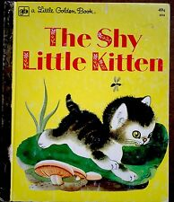 THE SHY LITTLE KITTEN ~Vintage Children's Little Golden Book