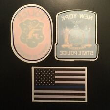 Nassau County & NY State Police InWindshield+1Blue line bumper **See Choice In D