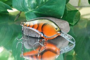 Joe's Custom Baits - Custom Painted Crankbait Rapala DT06 - Orange Scaled Craw