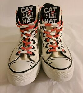 Dr. Seuss Converse Chuck Taylor All-Star Cat in the Hat High Top size 5 men &7W