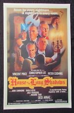 "HOUSE OF THE LONG SHADOWS 11x17"" Mini Movie Poster VF- 7.5 Vincent Price"